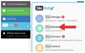 Site builder for website