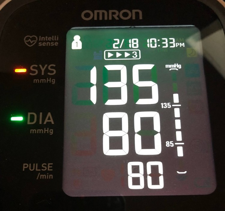 Omron 10 BP Reading