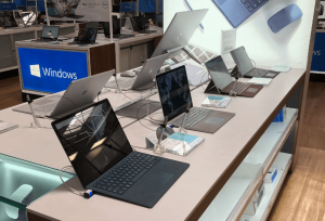 Laptops at the store