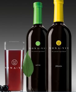 Mona Vie juice bottles
