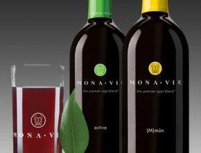 Mona Vie juice bottles