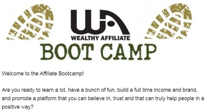 Wealthy Affiliate Bootcamp Lesson 1