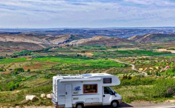 RV overlooking valley