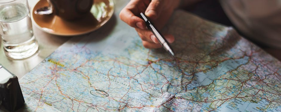A map to plan your travels