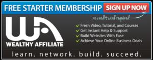 Wealthy Affiliate Free Startup Membership