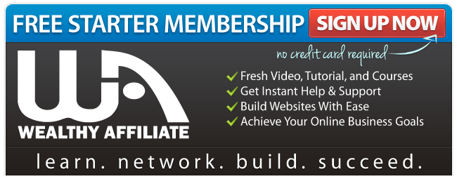 Wealthy Affiliate Free Starter Membership